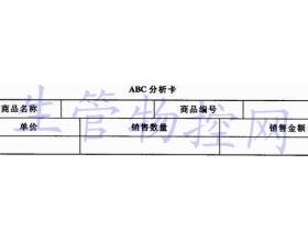 ABC分析法的一般步骤